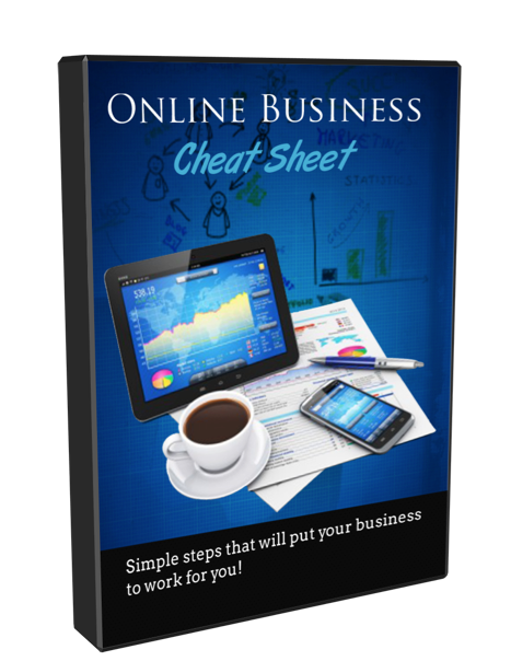 online business cheat sheet free video training